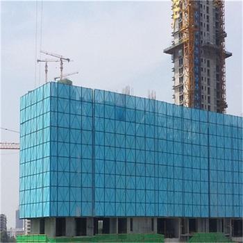 高层建筑防护爬架镀锌冲孔网