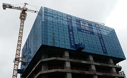 高层建筑冲孔爬架网 建筑外墙覆盖金属网